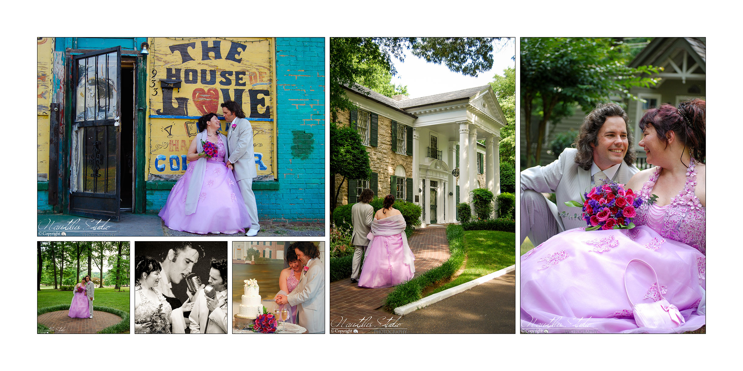 Hochzeit in Memphis auf Graceland in der Chapel in the woods